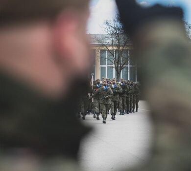 Przysięga wojskowa w 4WMBOT (24.04.2021)