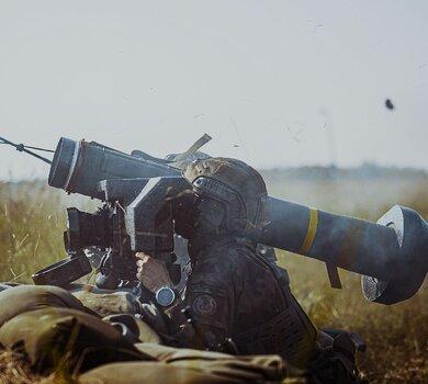 Strzelanie z ppk JAVELIN