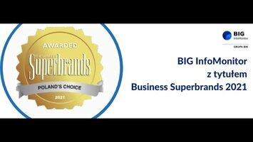 BIG InfoMonitor z tytułem Business Superbrands