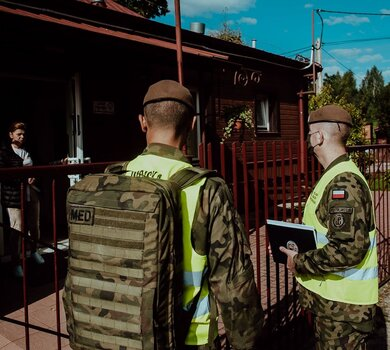 Żołnierze WOT w Krynka na Podlasiu w ramach operacji #SilneWsparcie