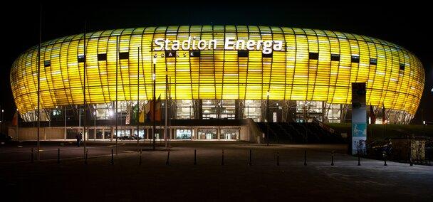 Stadion Energa Gdańsk wizualizacja noc