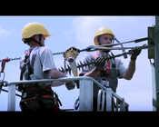 Grupa TAURON - prace na linii wysokiego napięcia