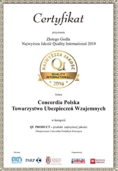 Concordia-Produkcja-Zwierzęca-laureatem-konkursu-Najwyższa-Jakość-QI