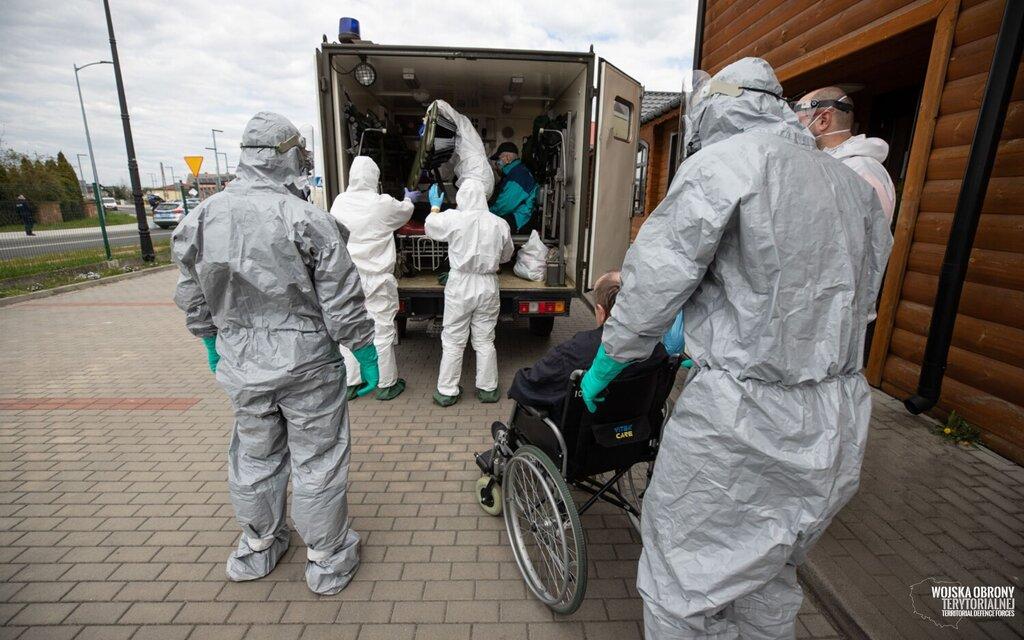 Ewakuacja Domu Pomocy Społecznej w Kleszczowie, 9 Łódzka Brygada OT