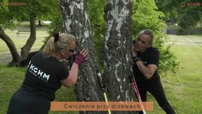 Nordic Walking KGHM - ćwiczenia urozmaicające