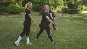 Nordic Walking KGHM - instruktaż prawidłowej techniki
