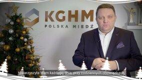 Życzenia Świąteczne Prezesa KGHM Marcina Chludzińskiego