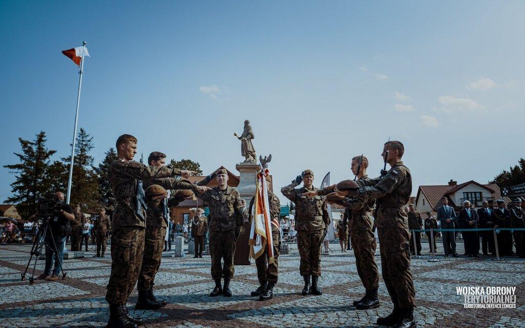 Przysięga wojskowa w Tykocinie