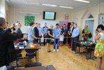Otwarcie pracowni elektroenergetycznej w Białogardzie, wrzesień 2014 r. Modernizację i wyposażenie pracowni sfinansowała ENERGA-Operator