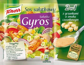 Zdjęcie: Chrupiące grzanki i pyszny sos, czyli... Sałatka Gyros!