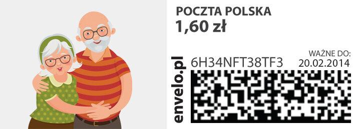 Poczta Polska: kartka dla babci i dziadka przez Internet