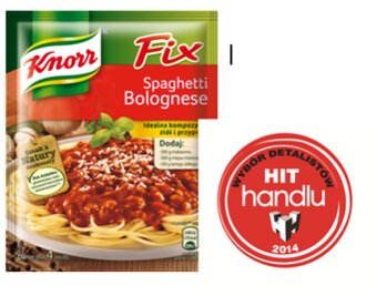 Zdjęcie: Fix Knorr Spaghetti bolognese – oto Hit Handlu 2014