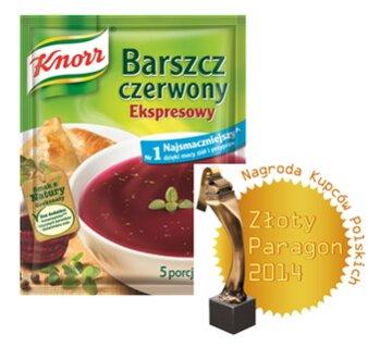 """Zdjęcie: Sukces produktów Knorr w konkursie """"Złoty Paragon 2014"""""""
