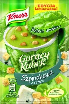Zdjęcie: Nowe wyjątkowe smaki Gorącego Kubka Knorr: Szpinakowa z serem i Paprykowa