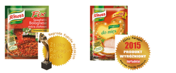 Zdjęcie: Złoty Paragon 2015 - produkty Knorr znów nagrodzone