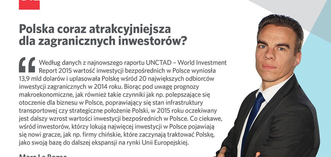 Polska coraz atrakcyjniejsza dla zagranicznych inwestorów?