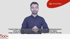 Poczta Polska: film w języku migowym na temat Programu 500 Plus
