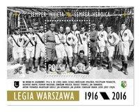 Poczta Polska ze znaczkiem pocztowym na stulecie Legii Warszawa