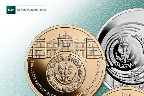 Monety na 200-lecie SGGW