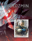 Poczta Polska z Wiedźminem na znaczku pocztowym