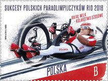 """""""Sukcesy polskich paraolimpijczyków Rio 2016"""" na znaczkach pocztowych"""