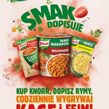 """Zdjęcie: Aktywacja konsumencka kategorii snacków Knorr """"Smak dopisuje"""". Konsumenci rymują z Cyber Marianem"""