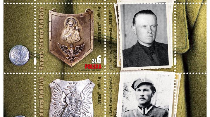"""""""Ryngrafy Żołnierzy Wyklętych"""" na znaczkach pocztowych"""