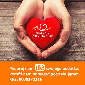 Polska Poczta: przekaż 1% dla podopiecznych Fundacji Pocztowy Dar