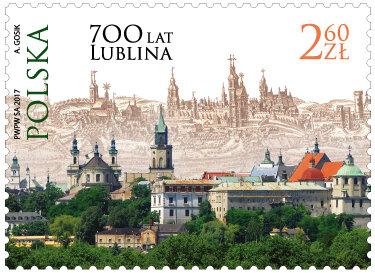 Poczta Polska: Lublin na 700. urodziny otrzymał własny znaczek