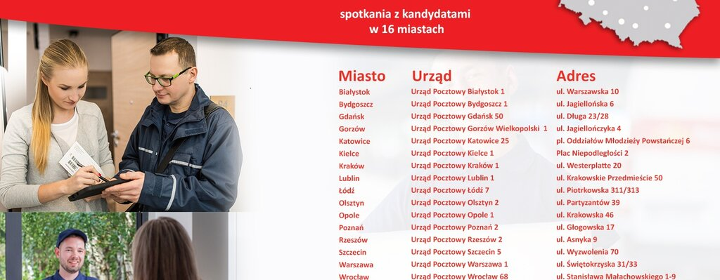 Pracuj blisko domu - ogólnopolska akcja rekrutacyjna Poczty Polskiej