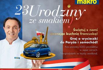 Oferta produktów z Francji na 23. urodziny MAKRO Polska
