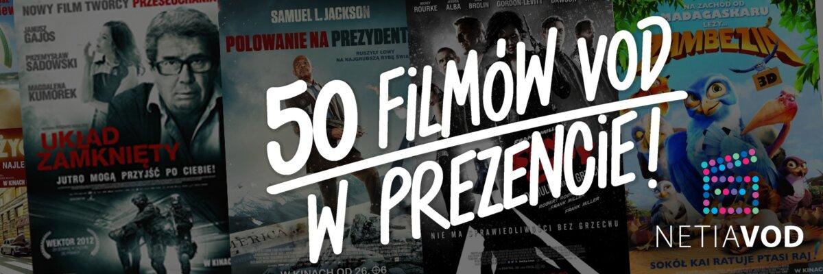 Netia VoD: 50 filmów za darmo!