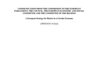 Strategia dla tworzyw sztucznych UE