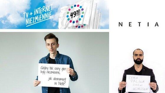 Influencerzy w kampanii Netii