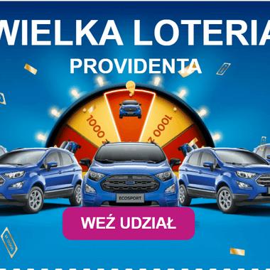 Wielka loteria Providenta – do wygrania 5 Fordów EcoSport i 500 x 1000 zł