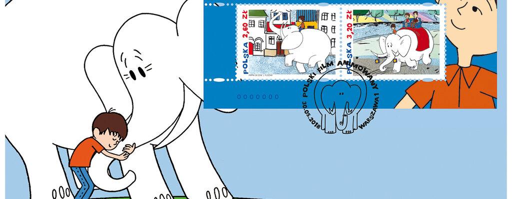 Kultowy słoń Dominik na znaczkach pocztowych
