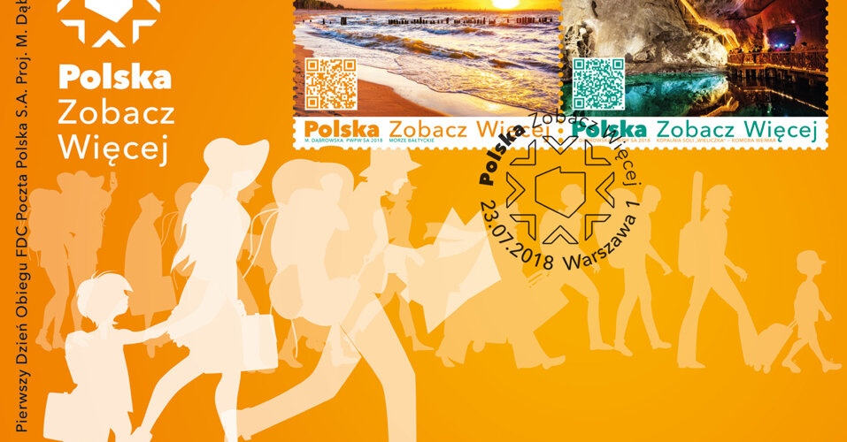 Poczta Polska przedstawia atrakcje turystyczne na multimedialnych znaczkach