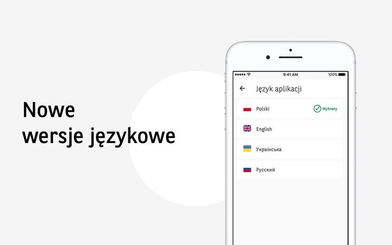 Aplikacja mobilna Banku BGŻ BNP Paribas GOmobile dostępna w języku ukraińskim i rosyjskim