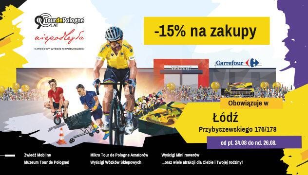 Carrefour Polska sponsorem głównym miasteczka kolarskiego Roadshow w Łodzi