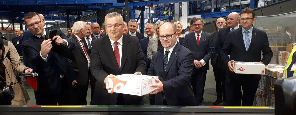 Poczta Polska buduje nową architekturę logistyczną. Nowoczesna maszyna paczkowa w Zabrzu oddana do użytku