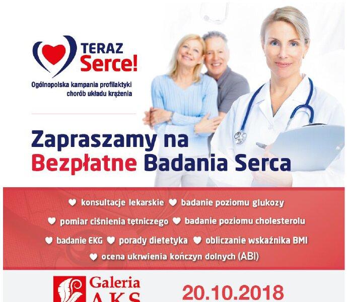 """Bezpłatne badania w ramach akcji """"Teraz serce"""" w Galerii AKS w Chorzowie"""