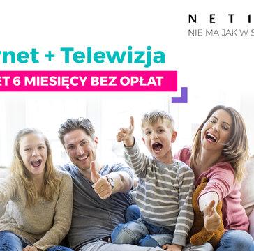 Netia: światłowodowy internet z TV przez 6 miesięcy za darmo!
