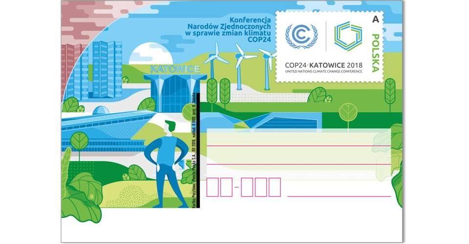 Poczta Polska wyemituje kartkę z okazji konferencji COP24 w Katowicach