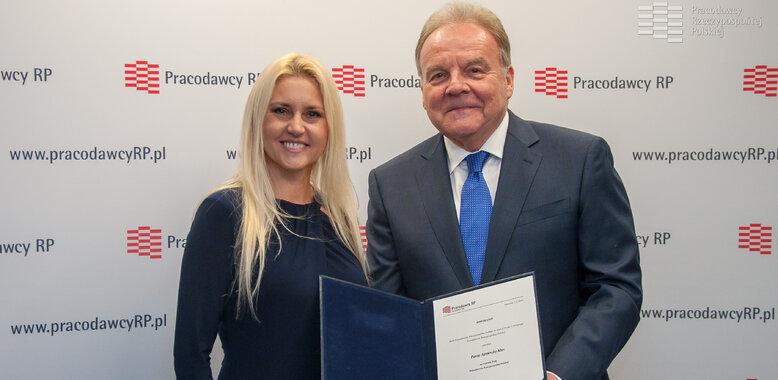 Agnieszka Kłos, prezes Provident Polska, Członkiem Rady Pracodawców RP