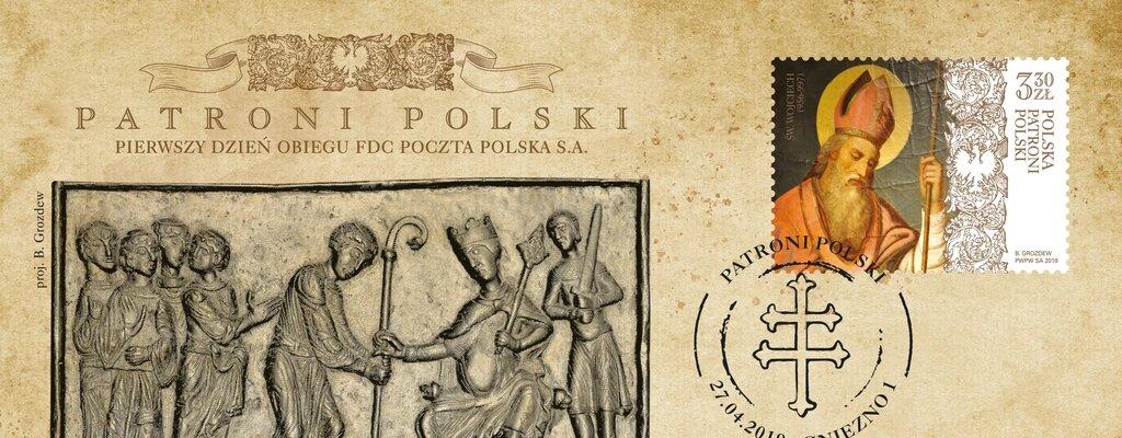 Poczta Polska wydała znaczek ze św. Wojciechem patronem Polski