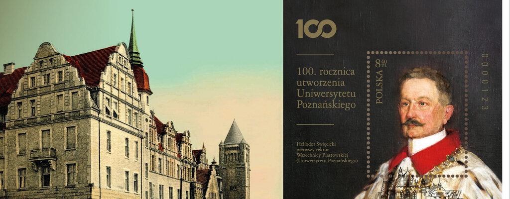 Poczta Polska uczciła okolicznościowym znaczkiem 100. rocznicę utworzenia Uniwersytetu Poznańskiego
