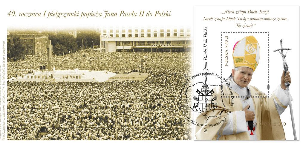 Poczta Polska uczciła 40. rocznicę pierwszej pielgrzymki papieża Jana Pawła II do Polski