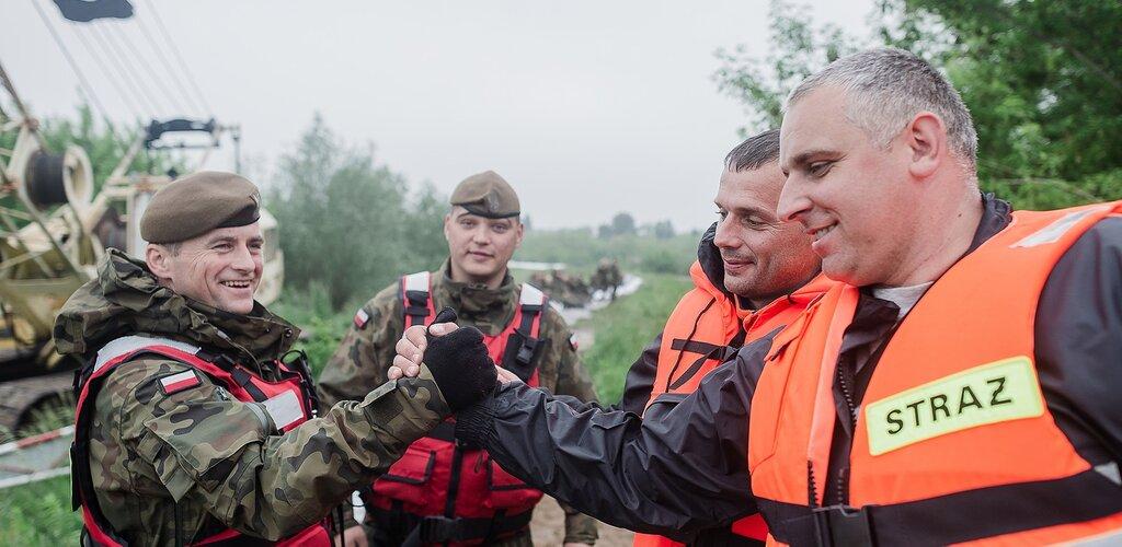 Aktualizacja działań żołnierzy Wojsk Obrony Terytorialnej w przeciwdziałaniu i usuwaniu skutków klęsk żywiołowych. Stan na: 25 maja 2019 r., godz. 17.00