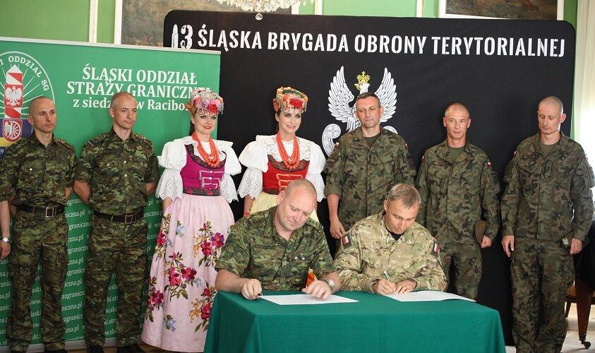 Porozumienie śląskich terytorialsów ze strażnikami granicznymi