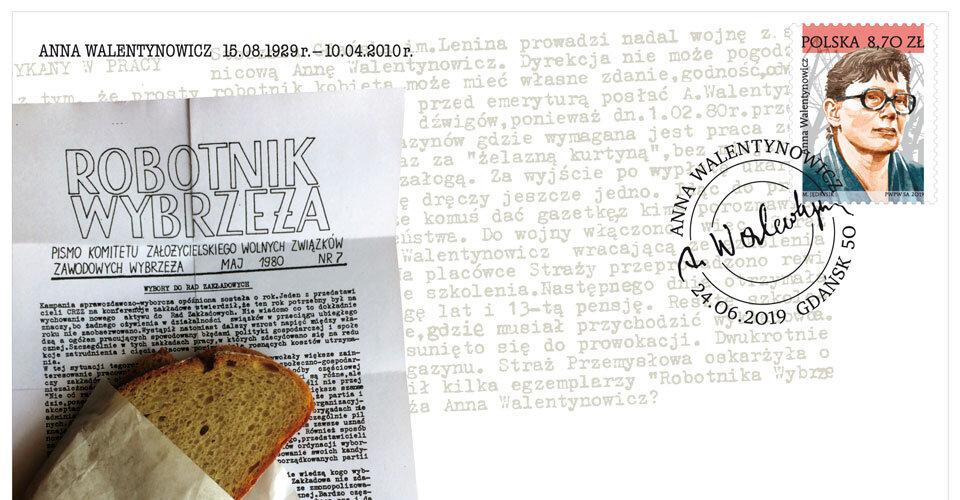 Poczta Polska honoruje znaczkiem Annę Walentynowicz